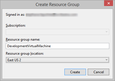Create resource group
