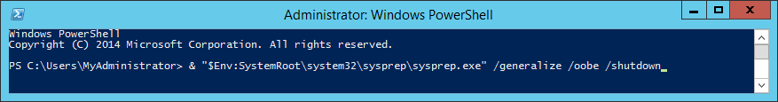 Invoke Sysprep from PowerShell