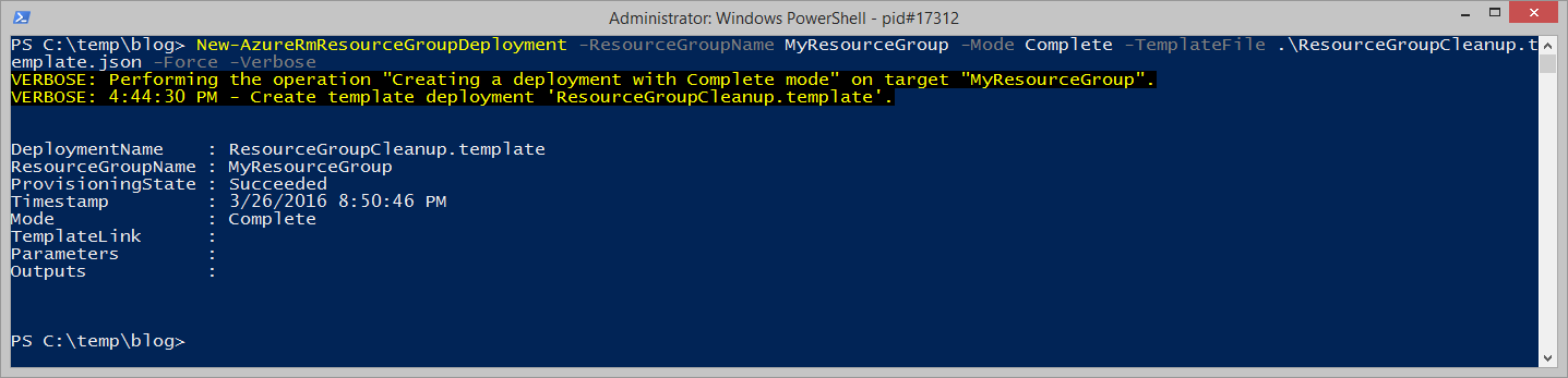 Purge all resources in a resource group using PowerShell