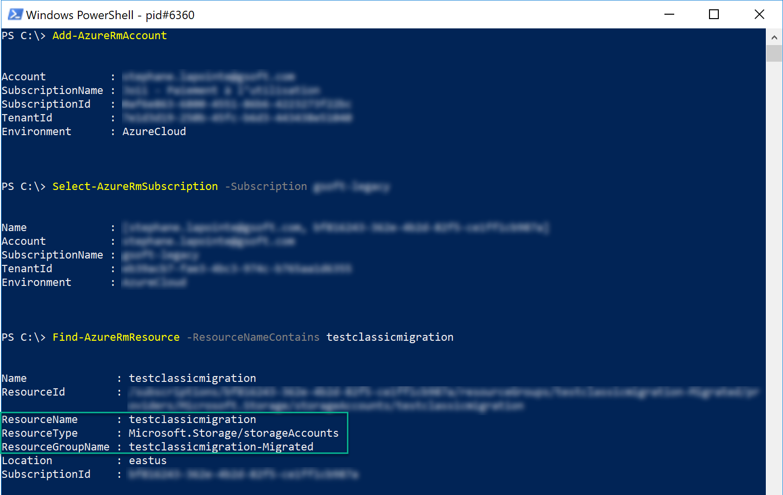 Find-AzureRmResource